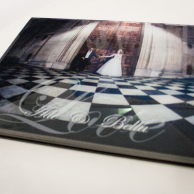 Glass Cover Album Book