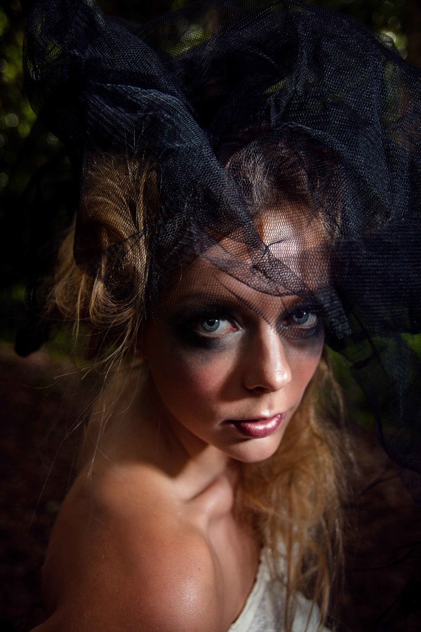 Hampstead Heath Bridal Portrait with Fairy tale theme. Love playing with make up and different props!