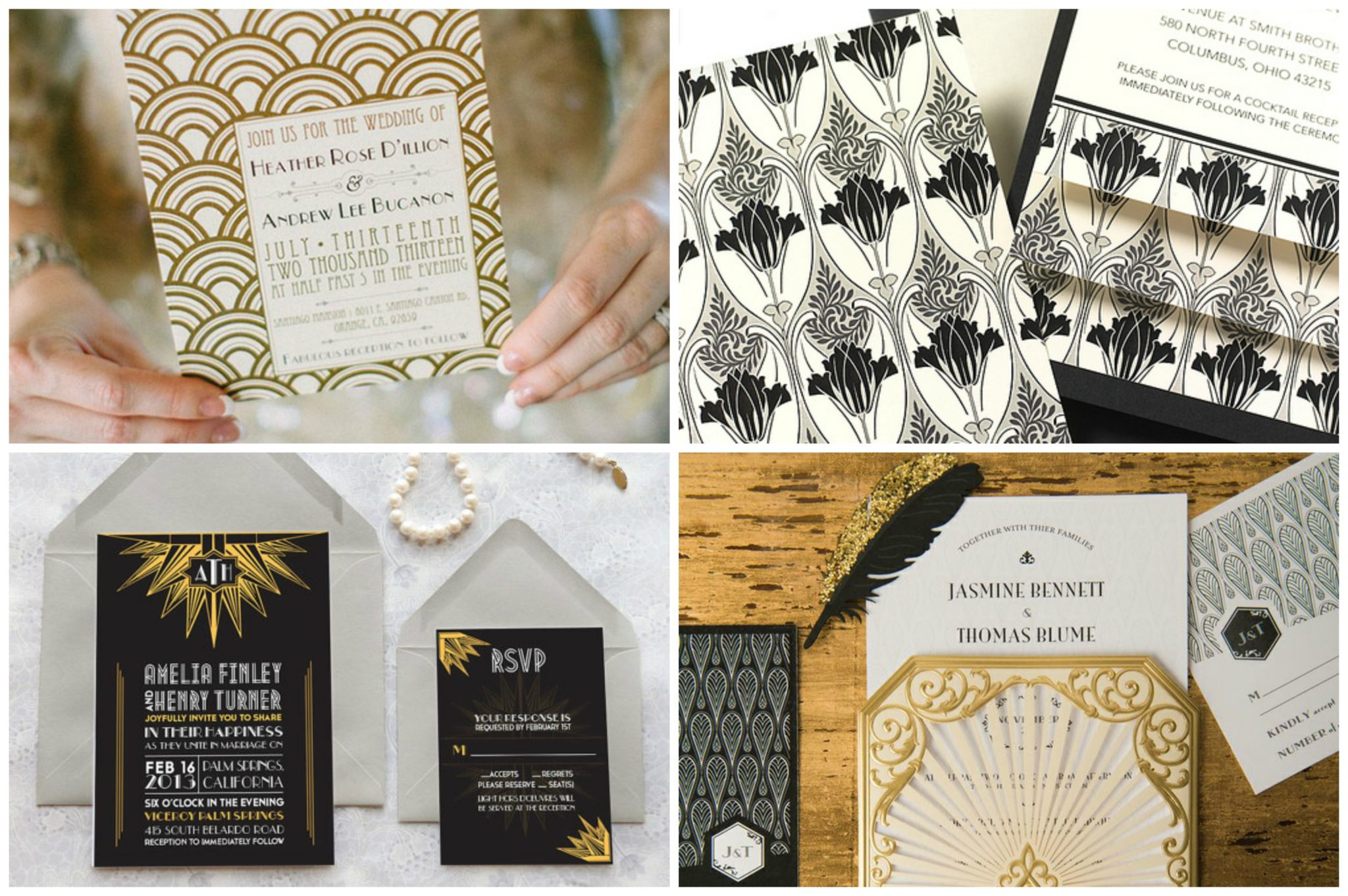 Was Ist Deco back into the 1920 great gatsby deco inspired wedding theme