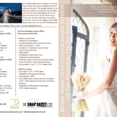 Bridal Make over & UK Pre-wedding photo shoot by The Snapshot Cafe & Daisuki Makeup