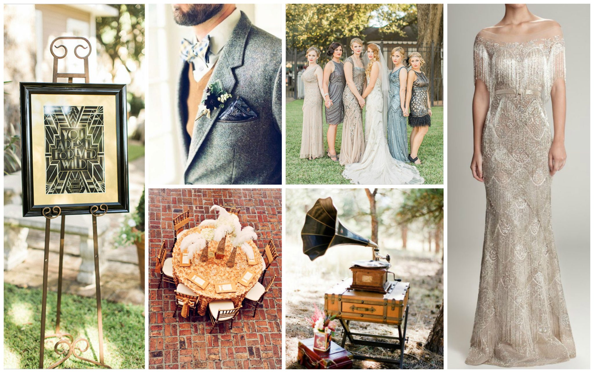 Back into the 1920: Great Gatsby / Art Deco Inspired Wedding Theme | The  Snapshot Cafe